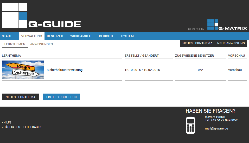 Admin - Verwaltung